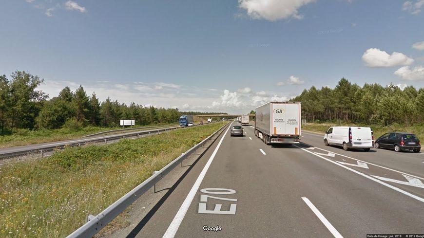 L'accident a eu lieu sur l'A63 à hauteur de Mios.