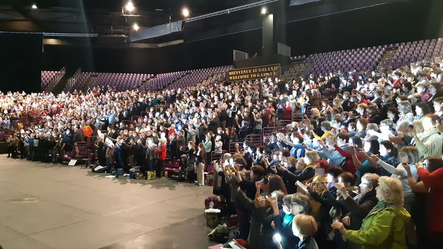 Les 2000 choristes en répétition pour l'édition 2019 au Galaxie d'Aménville