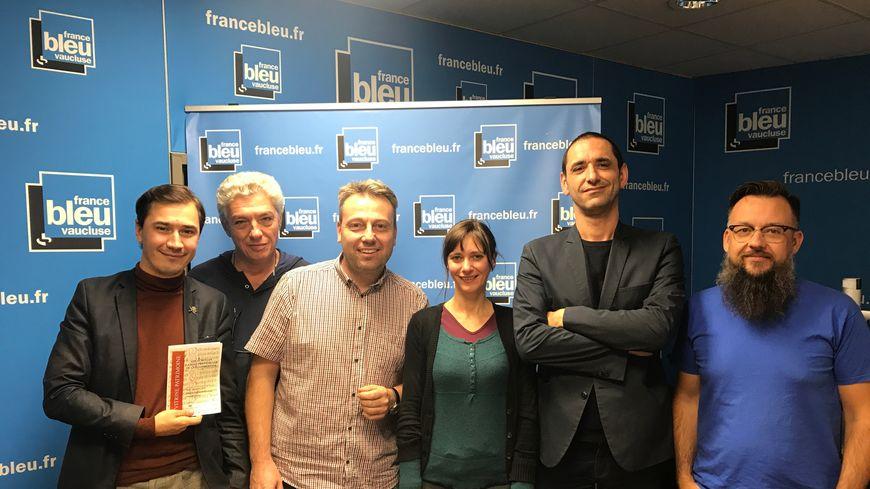 Paulin REYNARD, David PERON, Simon CALAMEL, Juie LOCHANSKI, Thibaut CANUTI et Christian CHAZALON sur France Bleu Vaucluse.