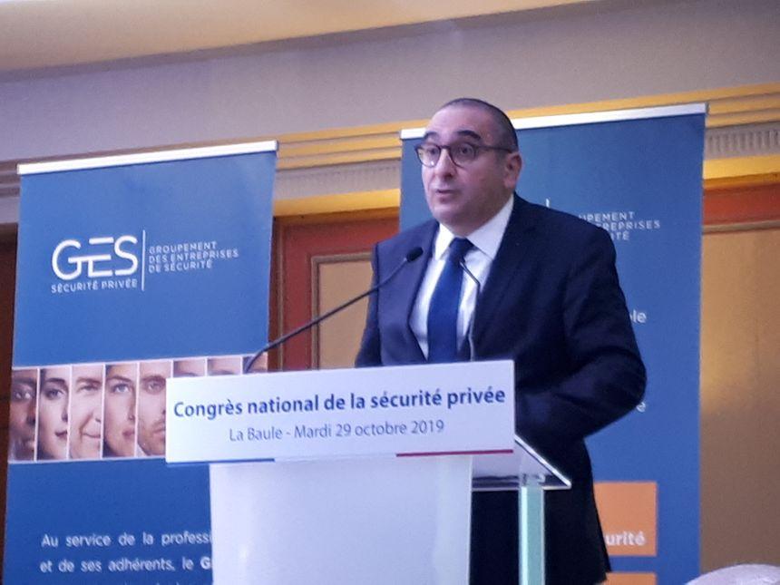 Laurent Nuñez, secrétaire d'état auprès du ministère de l'intérieur, au congrès national de la sécurité privée à la Baule.