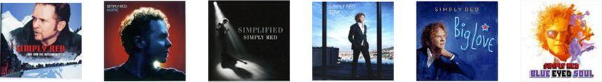 Pochettes des albums de Simply Red