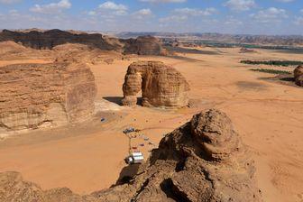 vue aérienne du désert d'Ula, au N-O de l'Arabie saoudite
