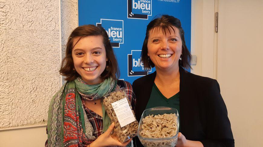 Delphine Chauveau et sa fille Alice nous ont fait goûter des pâtes fermières à la farine de lentilles verte du Berry