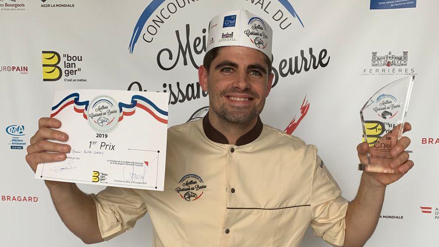 Baptiste Cortais, vainqueur du concours national du meilleur croissant au beurre