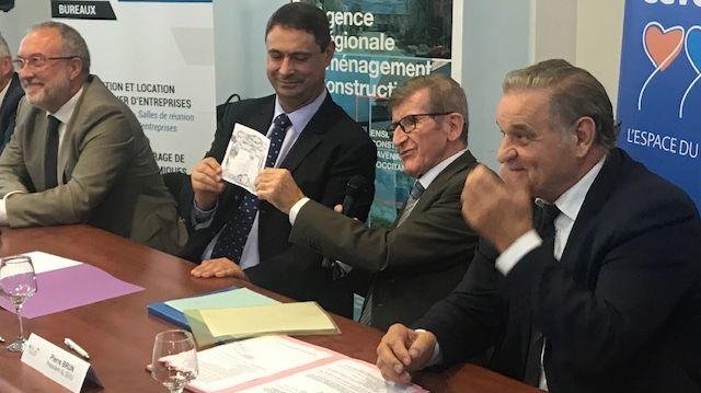 Les signataires d'un contrat de 24 M€ pour les thermes d'Alès-les Fumades