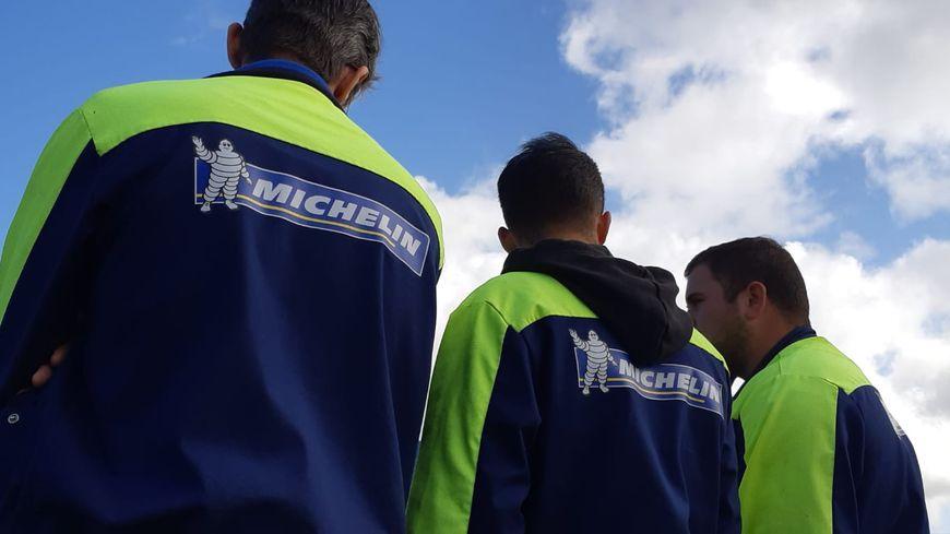 Des salariés de l'usine Michelin de La Roche-sur-Yon