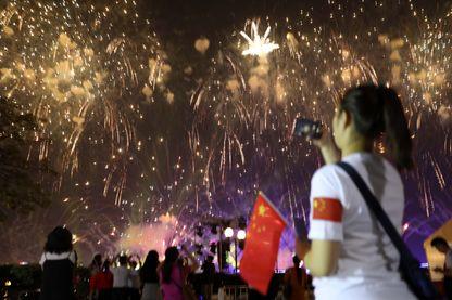 Célébrations du 70e anniversaire de la fondation de la Chine Populaire à Guangzhou,  le 1er octobre 2019