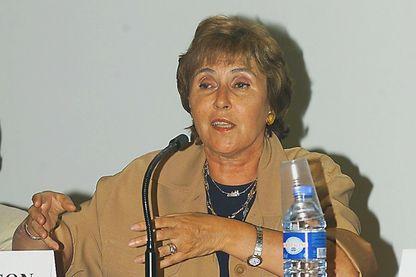 Edith Cresson, commissaire européen démissionnaire, le 9 septembre 1999 à Artigues