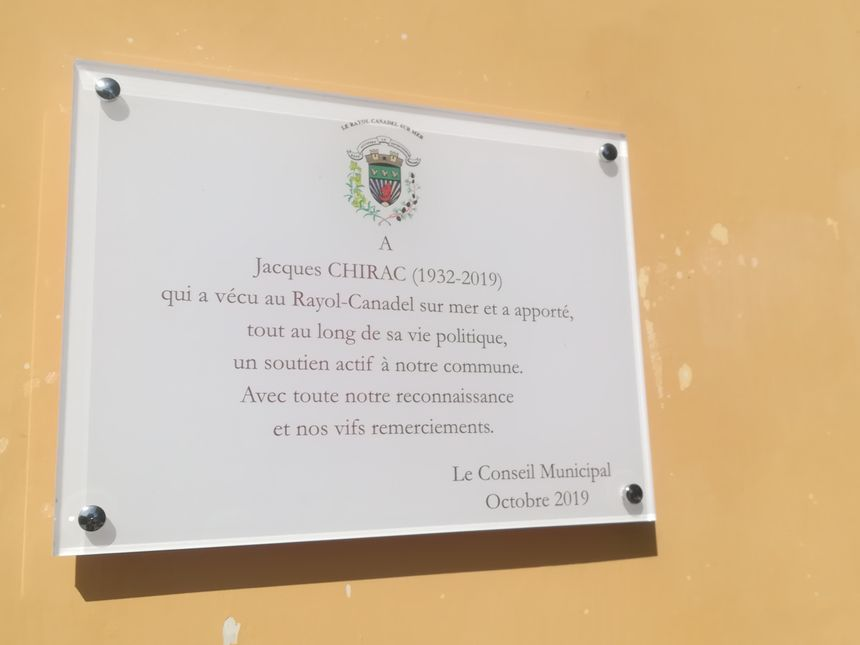 Après l'inauguration de l'Avenue Jacques Chirac, une plaque sera dévoilée ce samedi matin sur Le Bastidon du Domaine du Rayol