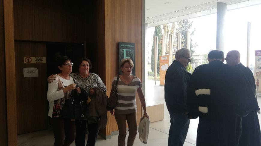 Christine Lequilliec, la première adjointe de Mandelieu, à la sortie de la salle d'audience du tribunal correctionnel de Grasse
