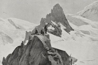 massif du Mont-Blanc, photographie tirée du magazine L'Illustration, année 76, no 3938, 24 août 1918.
