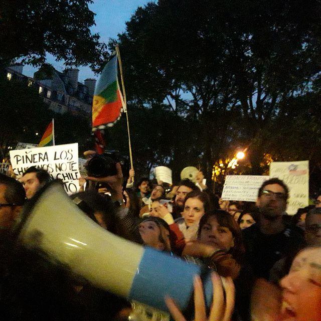 Pendant le rassemblement à Paris le 21 octobre 2019.