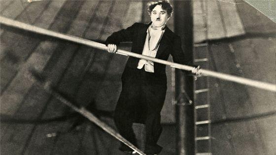 Charlie Chaplin scène du film The Circus (1928)
