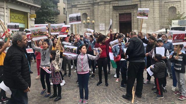 A Grenoble une centaine de personnes ont répondu à l'appel national lancé par la Coordination Nationale Solidarité Kurdistan.