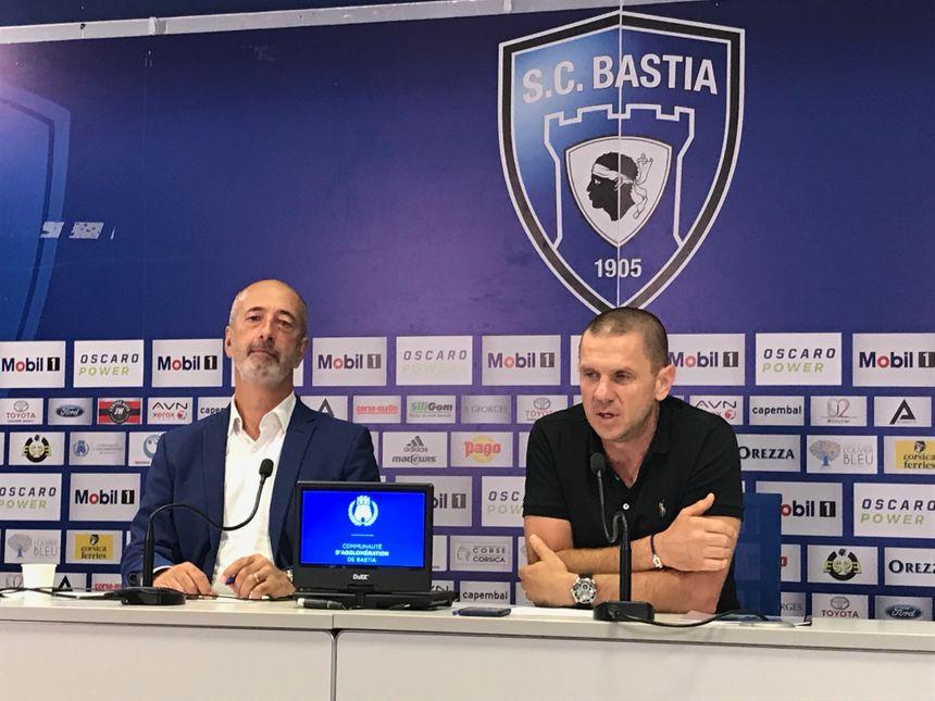 """Pierre Noël Luiggi et Claude Ferrandi : """"C'est un choix fort"""" soulignent les dirigeants du club."""