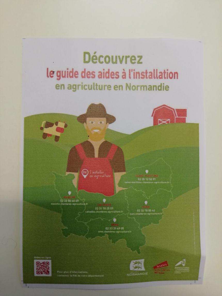 Le guide d'aide à l'installation est disponible en ligne sur le site de la chambre régionale d'agriculture de Normandie.