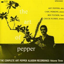 "Pochette de l'album ""The complete Art Pepper Alladin recordings/ Vol.3"" par Art Pepper"