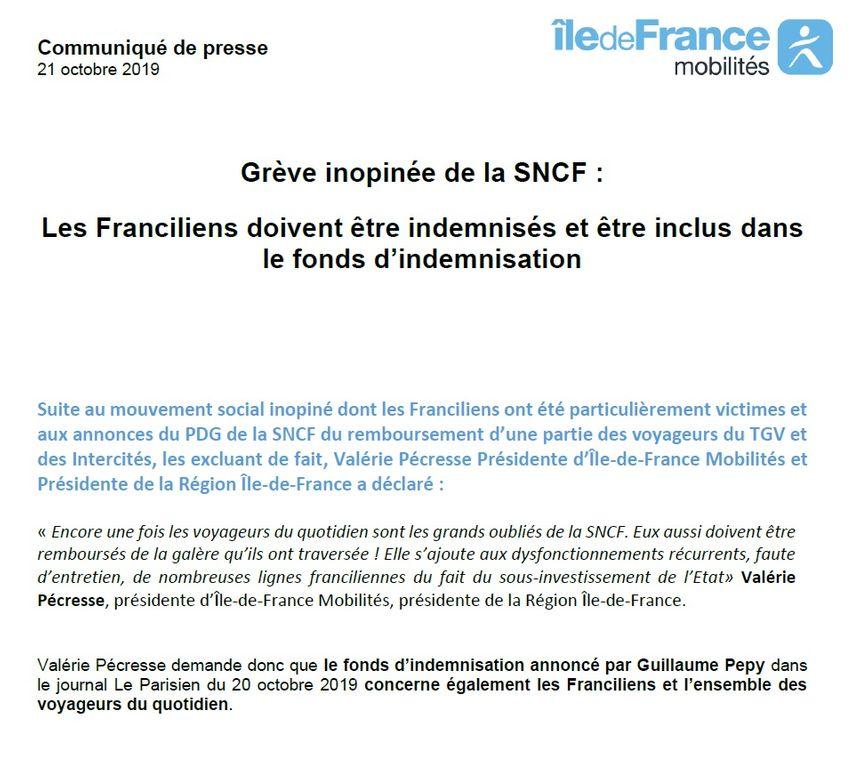 Ile-de-France Mobilités demande des indemnisations pour les usagers des RER et transiliens
