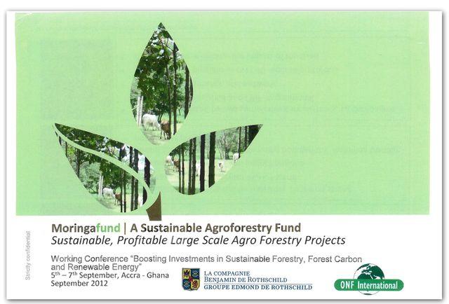 Extrait du projet de participation d'une filiale de l'ONF au capital d'une société en lien avec un fonds spécialisé dans l'agroforesterie, le fond Moringa.