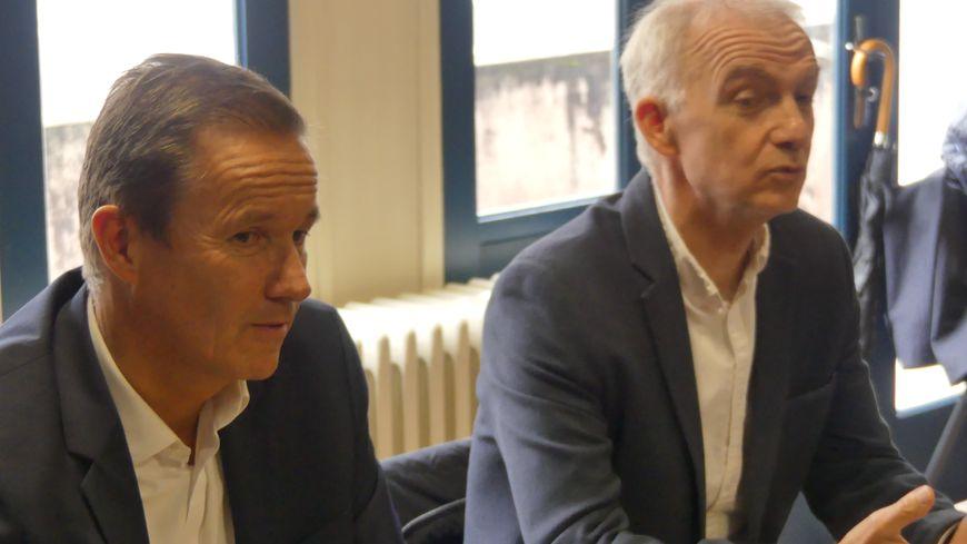 Nicolas Dupont-Aignan et Pascal Lesellier à Bayonne