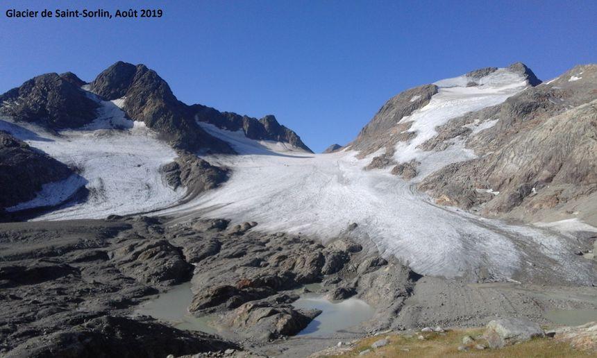 Le même glacier en 2019