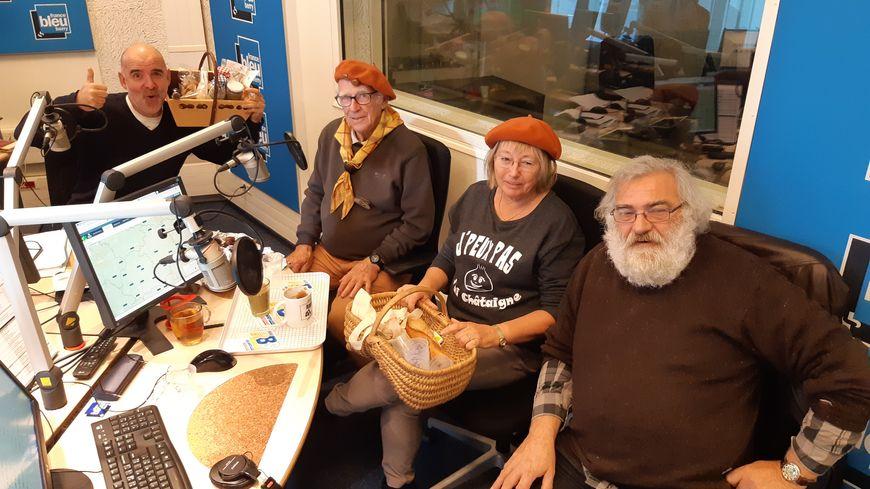 Dominique Lebrun, Bob Tanty et Benoît Lessueur avec Manuel Bonnefond