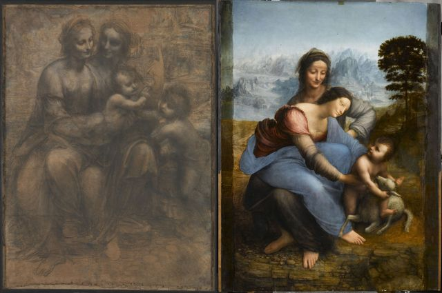 """Deux """"Sainte Anne, la Vierge, l'Enfant Jésus"""""""