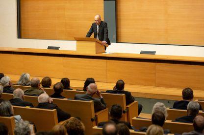 François-Xavier Fauvelle lors de sa leçon inaugurale au Collège de France le 3 octobre 2019