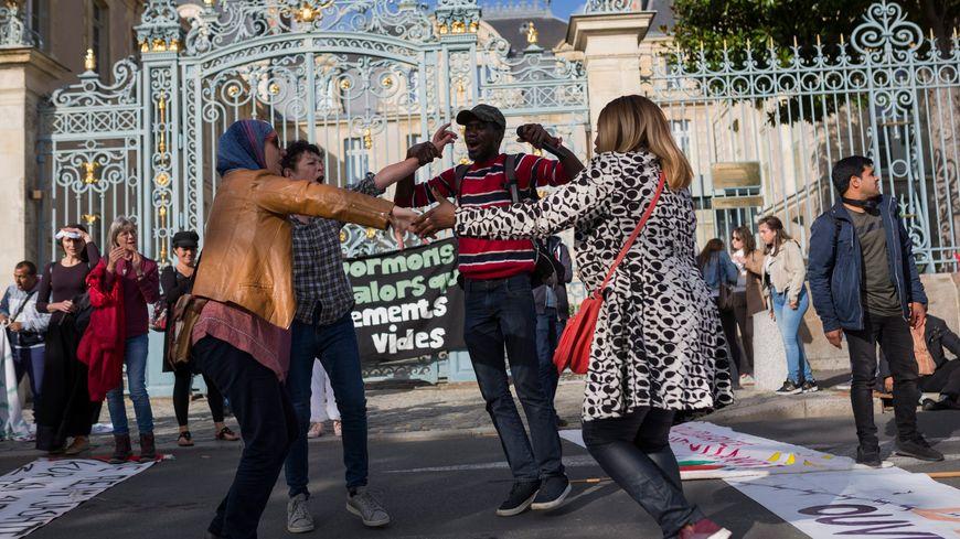 Manifestation à Rennes de soutien aux sans papiers