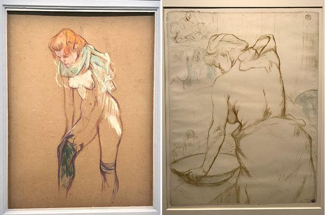 Femme qui tire son bas © Musée Toulouse-Lautrec, Albi -  Femme qui se lave (Elles)