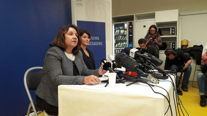 La procureur de la République, Yolande Renzi, s'exprime sur la découverte du corps de Sophie Le Tan.