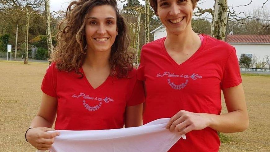 Julie (à gauche) et Laure (à droite), participantes au Raid Amazones 2019