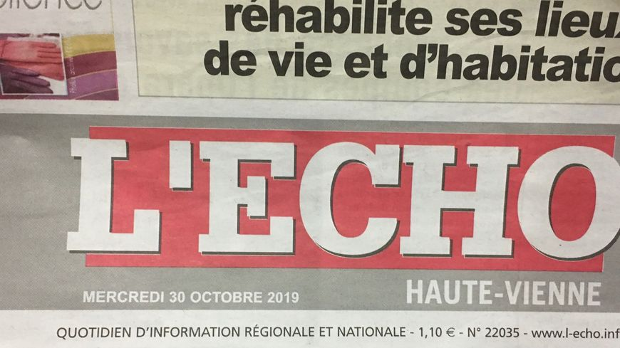 Le Tribunal de Commerce de Limoges va examiner la situation du journal l'Echo le 6 novembre.