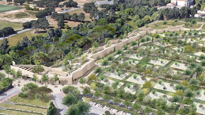 L'extension du cimetière St Etienne à Grammont s'étendra sur 13,5 ha et comptera 1.200 places