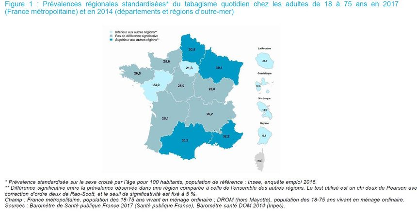 Moins de fumeurs en Ile de France qu'ailleurs