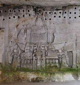 Bas relief de la grotte dite « du Jugement dernier » à Brantôme