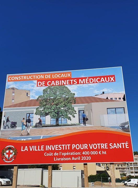 La municipalité de Calvi a décidé de construire un bâtiment de quatre cabinets médicaux accompagnés d'un logement et de le mettre à disposition des professionnels
