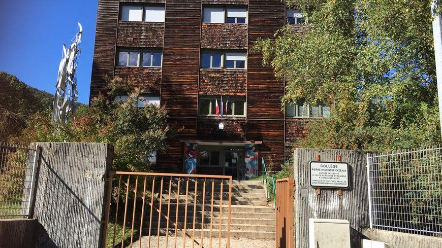 Le collège Pierre-Hyacinthe Cazeaux, à Morez (Jura), où sont scolarisés les collégiens.