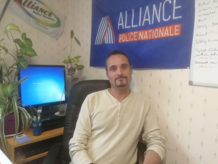 Cédric Bovrisse, le secrétaire départemental du syndicat Alliance Police Nationale de Côte-d'Or - Radio France