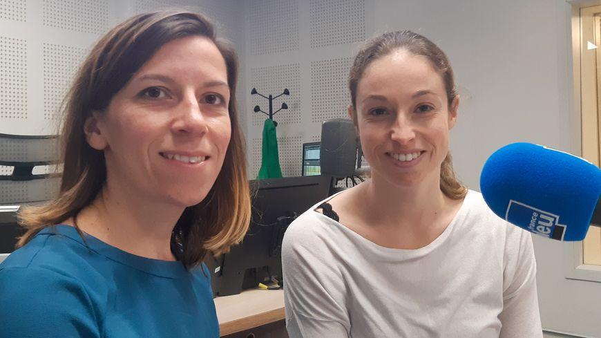 Anna L'helgoualc'h et Fanny Quemener membres de l'association France AVC 29, travaillent à la clinique des Glénan à Bénodet.