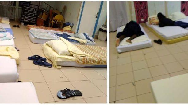 Des jeunes étrangers non accompagnés dorment régulièrement par terre sur des matelas au centre départemental de l'enfance