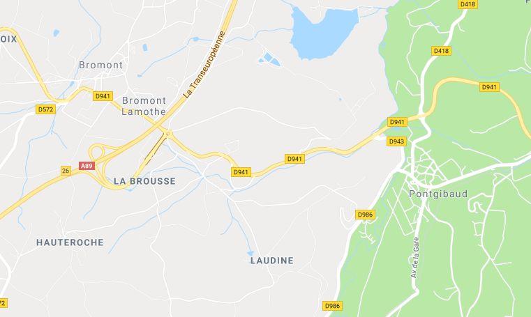 L'accident s'est produit sur la D941 à Bromont-Lamothe en direction de Pontgibaud