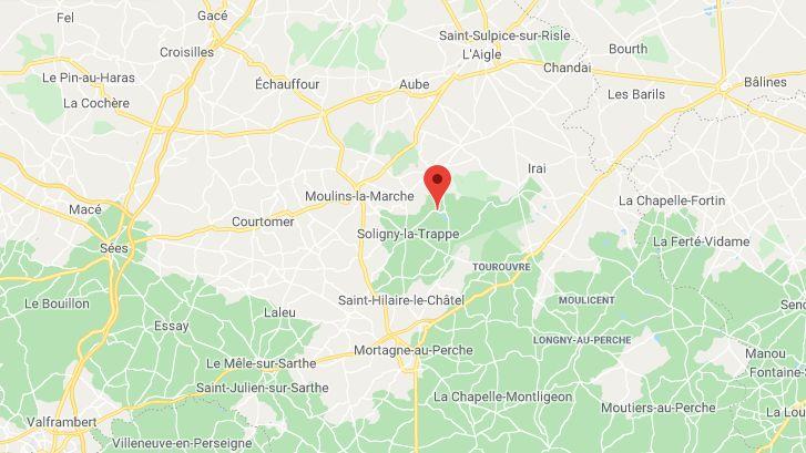 L'accident a eu lieu tout près de l'Abbaye de la Trappe, dans le Perche (Orne)