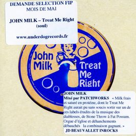 "Pochette de l'album ""Treat me right"" par John Milk"