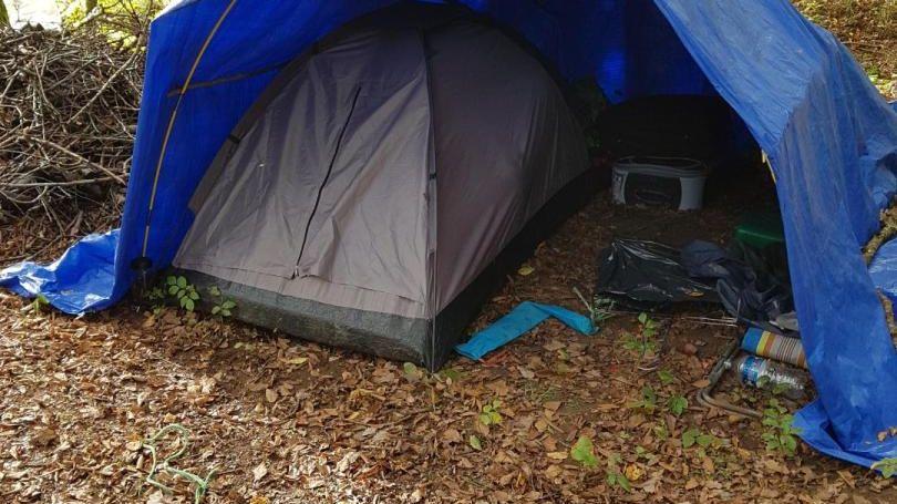 Campement sauvage en forêt de Fougerolles