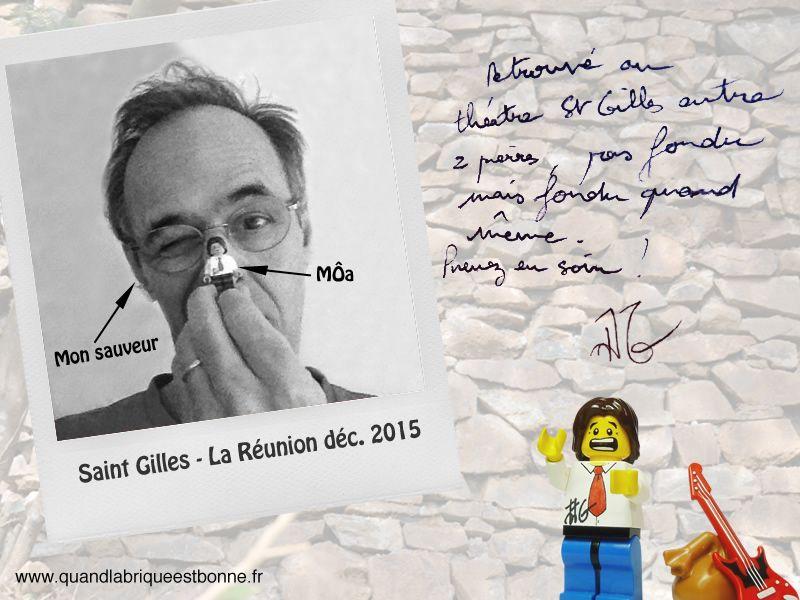 Jean-Jacques Goldman avec Lego Goldman.