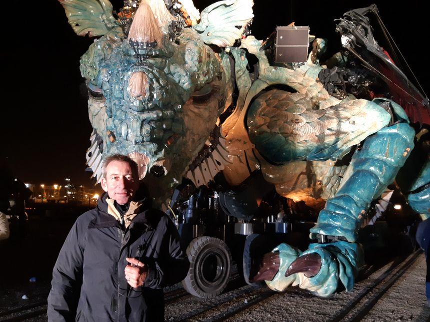 François Delaroziere a imaginé le Dragon des mers, à la demande de la ville de Calais.