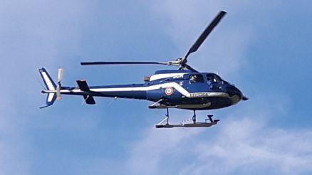 Les gendarmes ont reçu l'appui aérien d'un hélicoptère