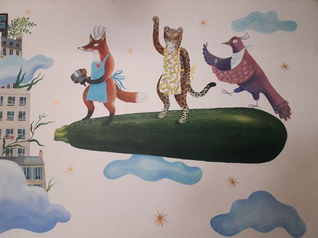 Une fresque magique de Lindsay Grime inaugurée en musique à la Cantine des Pyrénées