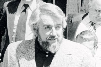 Guenther Guillaume à la sortie du tribunal lors de son procès (1975)